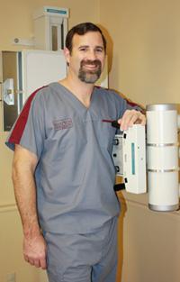 Chiropractor, with x-ray machine