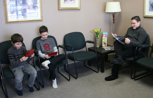 reception room at Meadowvale Chiropractic & Massage