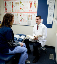 Dr. Talking with patient
