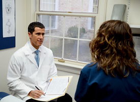 Dr. Duffy consultation with patient