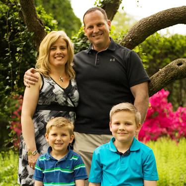 Dr Logullo family outdoors