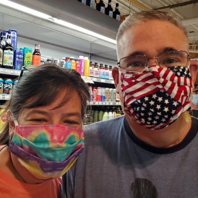 tye die and flag mask