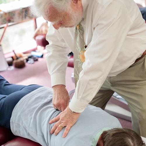 Dr. Harte performs a gentle, specific, scientific chiropractic adjustment