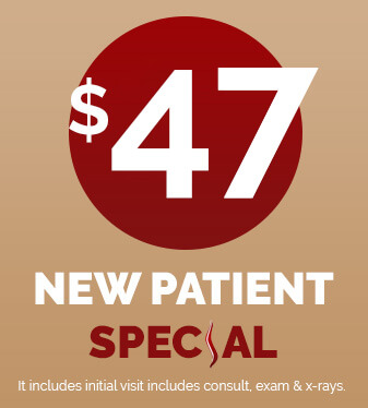 $47 Chiropractic New Patient Special - Click to Book Appointment Online
