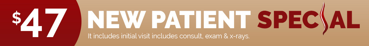 $47 Chiropractic New Patient Special - Click Here to Book Appointment Online