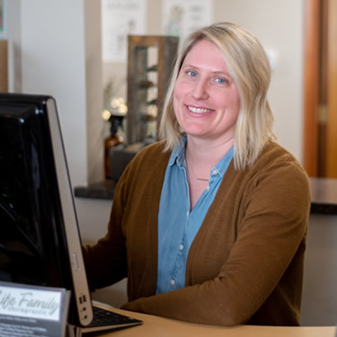 Front Desk/Office Manager, Stacey Finley