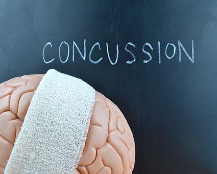 Concussion on chalk board