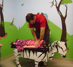 The primary form of care in our office is chiropractic adjustments.