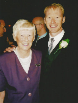 Dr. Kent with his mother, Beverley