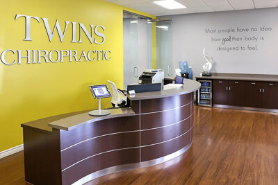 Twins Chiropractic and Physical Medicine  reception desk
