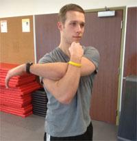 Rear Shoulder & Back Stretches