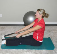 Calf Stretch - Seated