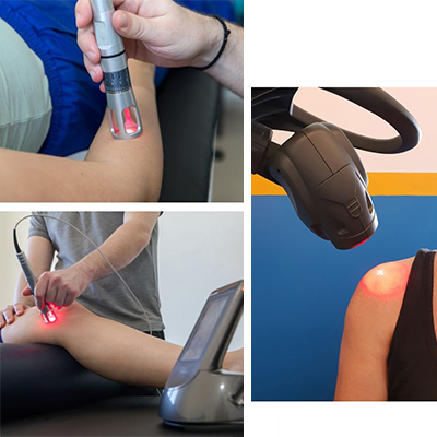 Image of laser therapy being done on patients