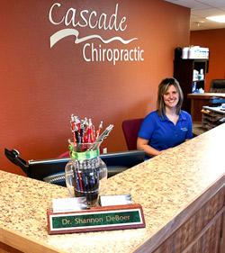 Front desk of Cascade Chiropractic, Hot Springs Chiropractic office