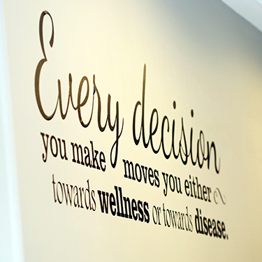 Wall art in Stratford Chiropractic & Wellness Centre