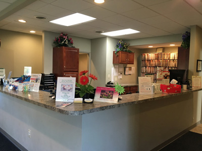 Photo of the office front desk
