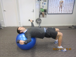 Chest Fly on Fitness Ball