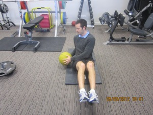 Seated Rotation with Medicine Ball