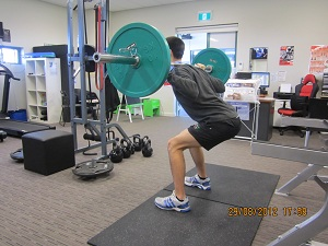 Barbell squat second position