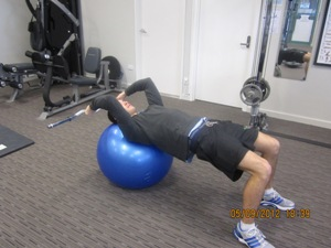Triceps Extension on Fitness Ball
