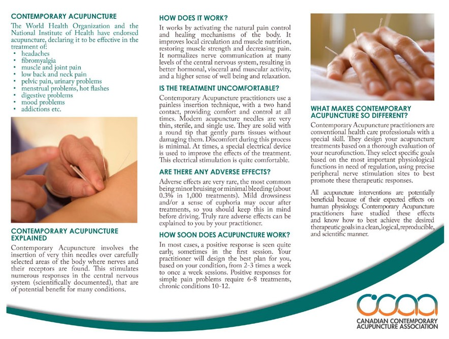 Contemporary Acupuncture Brochure - Page 2