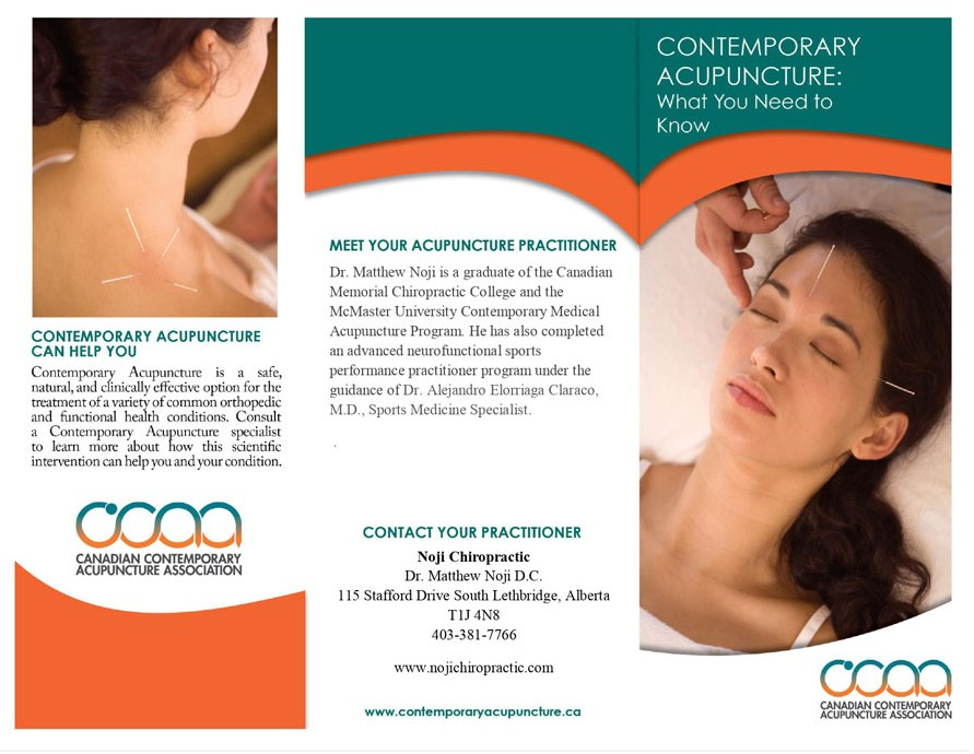 Contemporary Acupuncture Brochure - Page 1