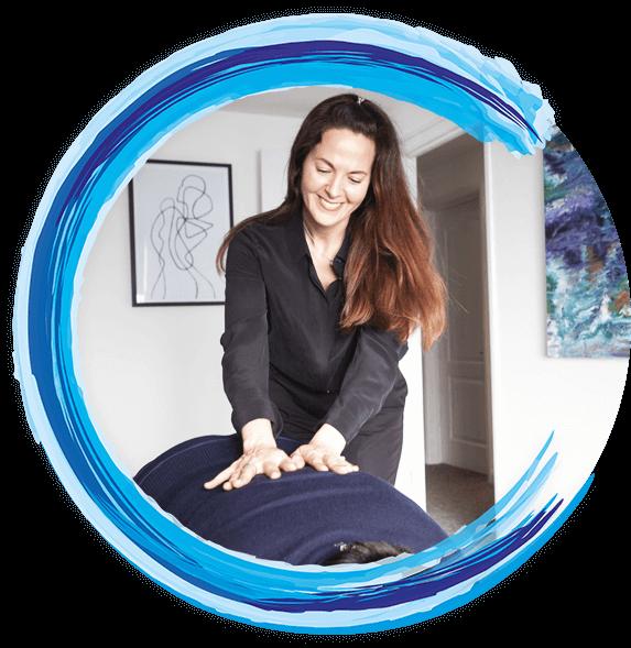 Dr Emma Scullion (Chiropractor) adjusting a patient