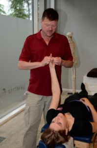 Testing for problems in the upper neck