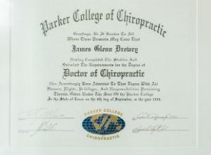 Chiropractor Amsterdam Doctorate of Chiropractic Diploma