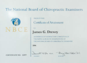 Chiropractor Amsterdam NBCE Certification