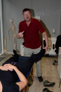 General test for misalignment of the ankle bones