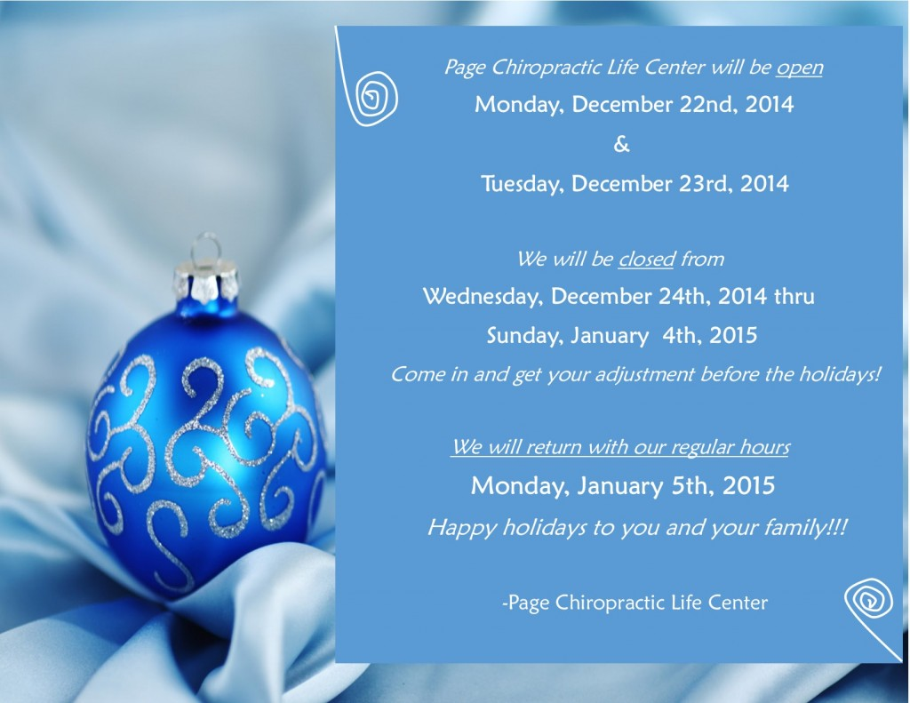christmas Hours updated