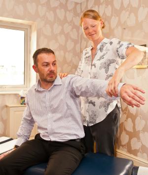 Chiropractor arm check