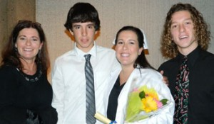 Dr. Janet Gaussoin with her children Rick, Jessica and Kyle