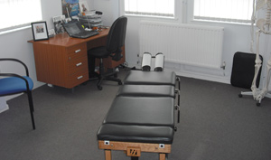 Forest Hall Chiropractic Clinic adjustment room