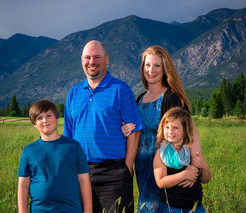 Photo of Dr. Dale and family
