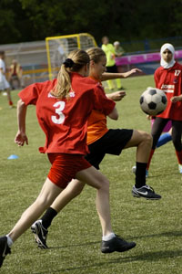 Soccer is an exciting sport for active kids
