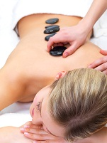 hot stone massage at the family wellness center