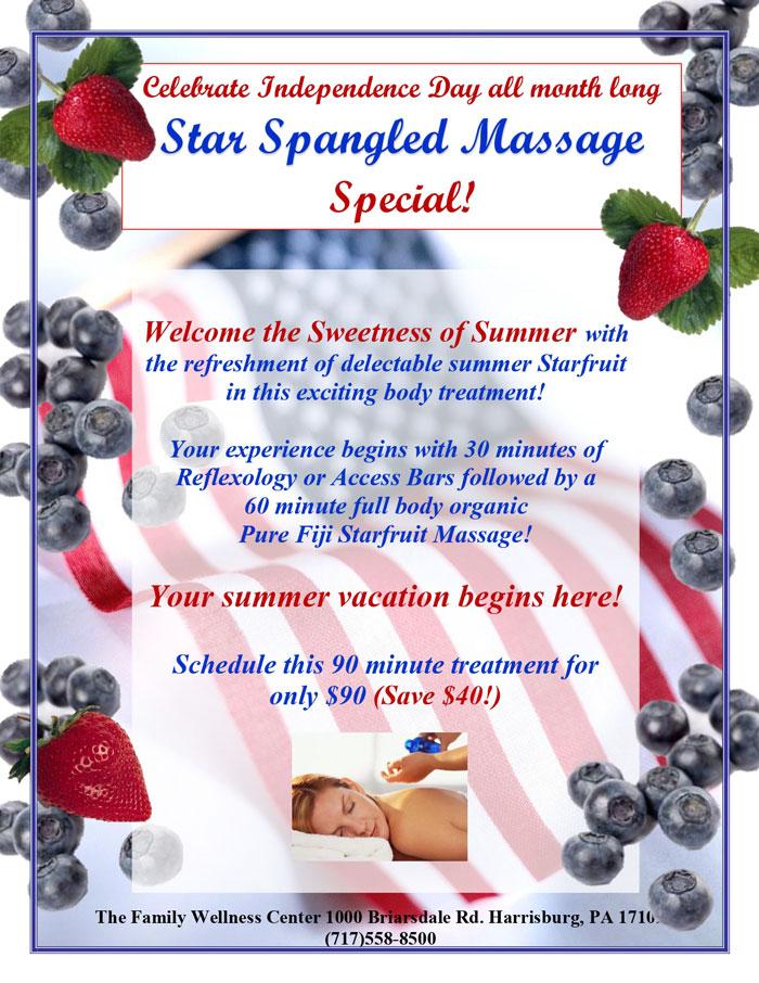 Star Spangled Massage Special