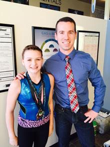 Gymnast with Dr. David Hanson
