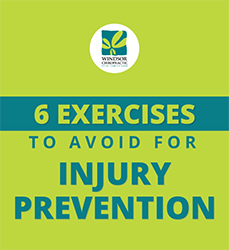 eBook link to 6 Exercises to Avoid for Injury Prevention