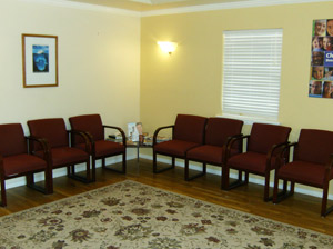 Please make yourself at home in our comfortable waiting area.