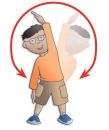 Boy doing excercise