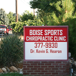 Boise Sports Chiropractic Clinic Signage outsite of building