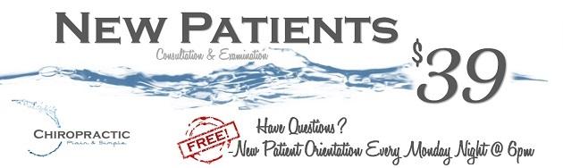 New Patients $39 Consultation & Examination