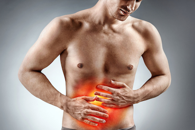 Graphic showing stomach pain