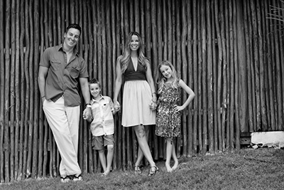 Dr. Bryan Andreas and his family