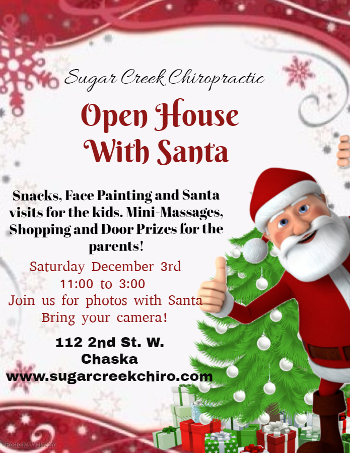 Join us for our annual holiday open house! as always free treats and santa visits! shopping and mini massages for the parents too! This years donations will go towards launchministries.com. We look forward to seeing you this holiday season!