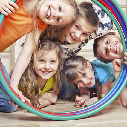 Childrens head in hoops
