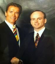 Dr. Chris Quigley with Arnold Schwarzenegger